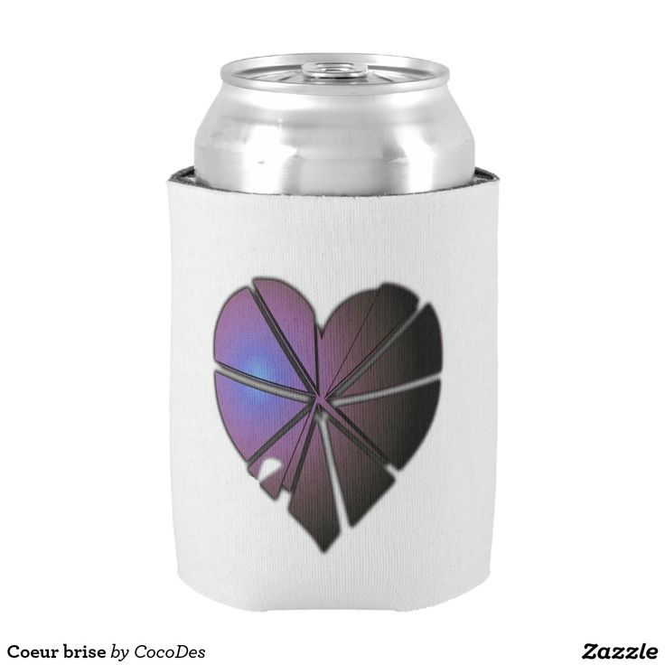 Coeur brise can cooler