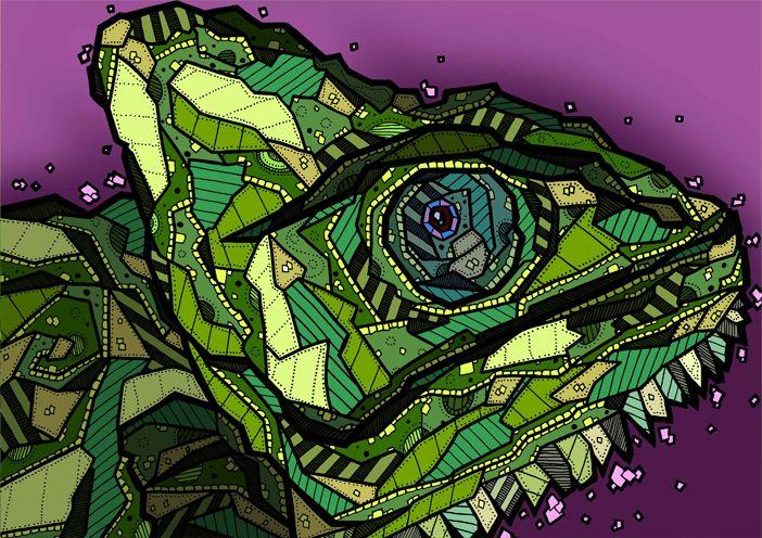 Chameleon Illustration by Kelly Blake