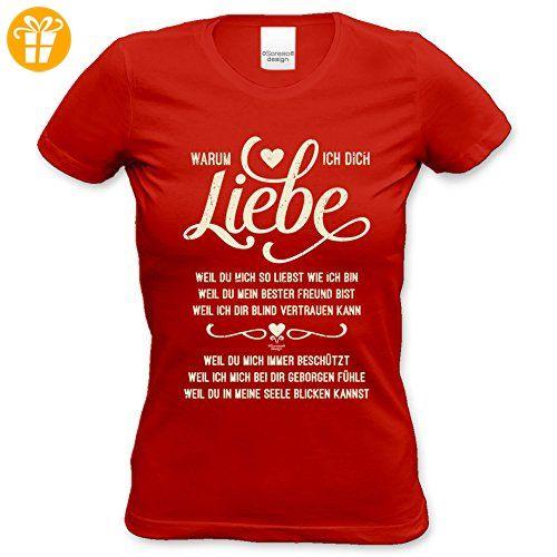 Als Liebesbeweis / T-Shirt Funshirt Girlie für Damen zum Valentin /  Geburtstag / VatertagWarum