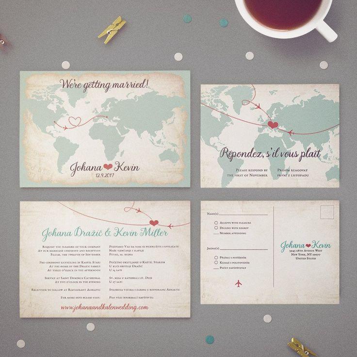 100 best Bilingual Wedding Invitations images on Pinterest | Bridal ...