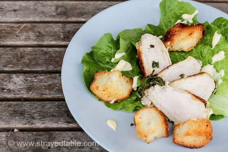 Roasted Basil Chicken Salad Recipe. Simple and easy recipe to create an elegant salad with basil chicken and a creamy dressing. Visit Strayed from the Table for more recipe inspiration.
