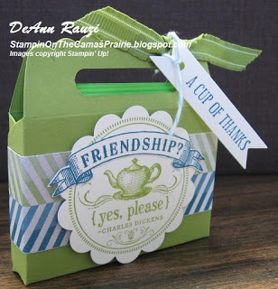 Stampin' on the Prairie: Scallop Envelope Tea Party Favor