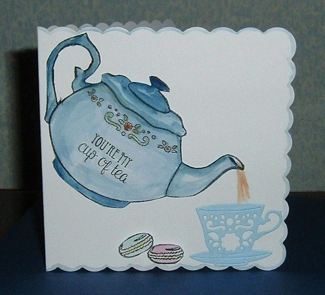 tea time all occasion greetings card (ref 903) £1.25