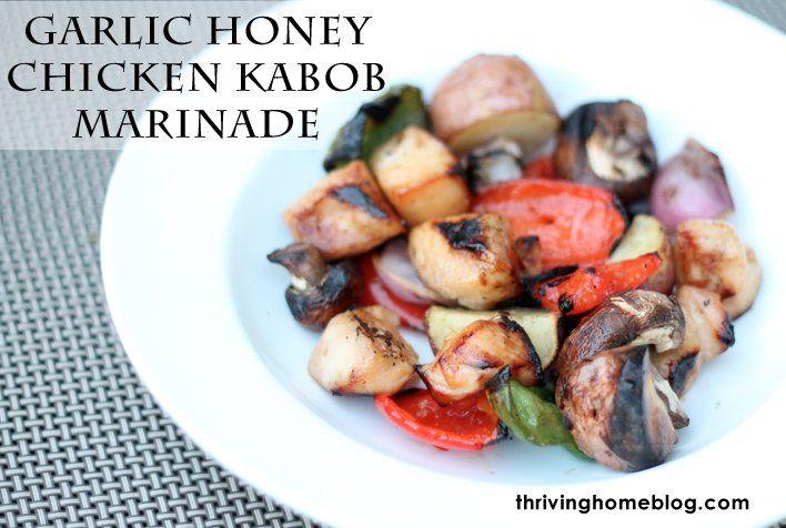 Garlic honey chicken kabob marinade