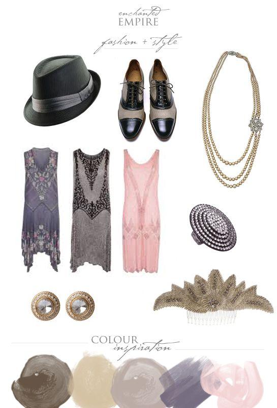 Great Gatsby Fashion & Style Board  www.enchantedempire.com.au