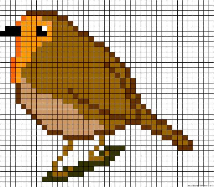 Bird robin, this would be really cool to make into a quilt, somehow...