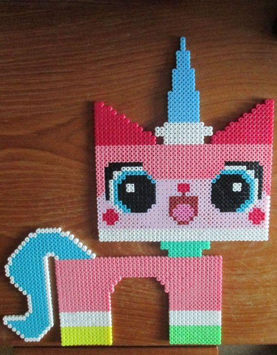 Lego Movie Unikitty Bead Pixel Art Figure by PixelArtMJ on Etsy