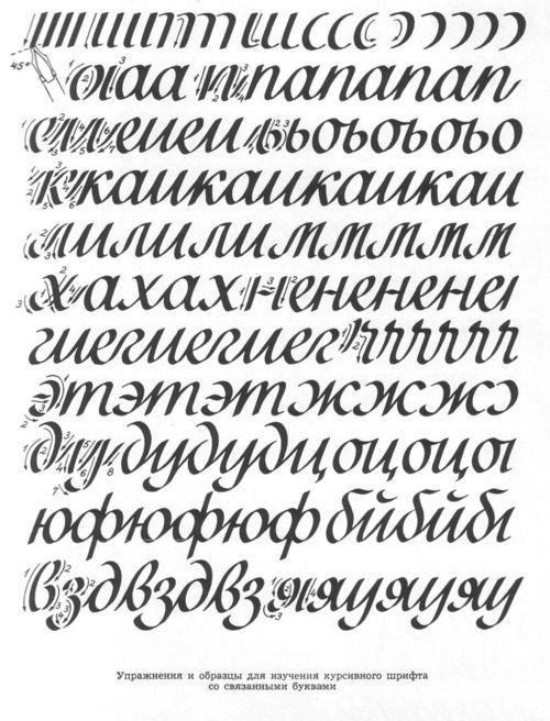 Упражнения для каллиграфии - __Oak__