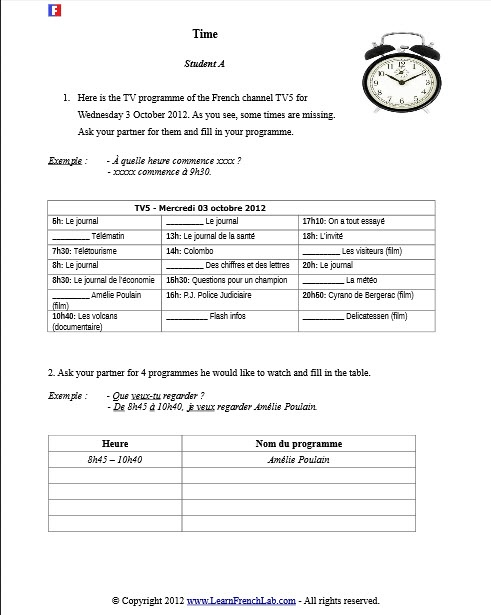 17 best images about french worksheets on pinterest communication skills zoo animals and. Black Bedroom Furniture Sets. Home Design Ideas