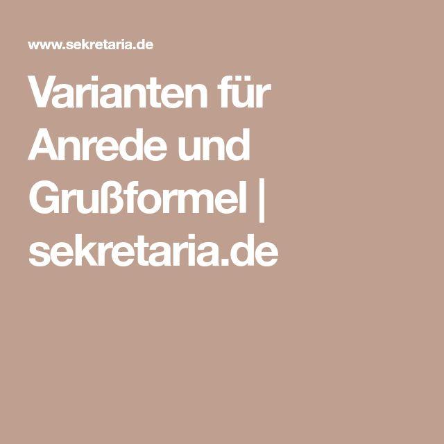 Varianten für Anrede und Grußformel | sekretaria.de