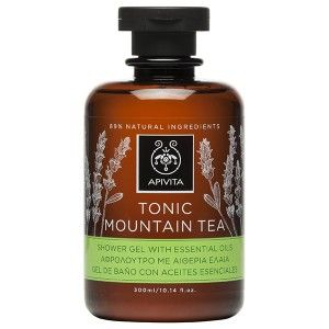 TONIC MOUNTAIN TEA Shower Gel with Essential Oils with greek mountain tea .#Toning #Protection from oxidative stress #Moisturization Toning shower gel with essential oils gently cleanses the skin without dehydrating it and at the same time provides protection from oxidative stress thanks to the Greek mountain tea. It improves the mood and leaves the skin lightly scented. Use it for your morning bath in order to kick start the day. Suitable for men and women. Read more at www.apivita.com