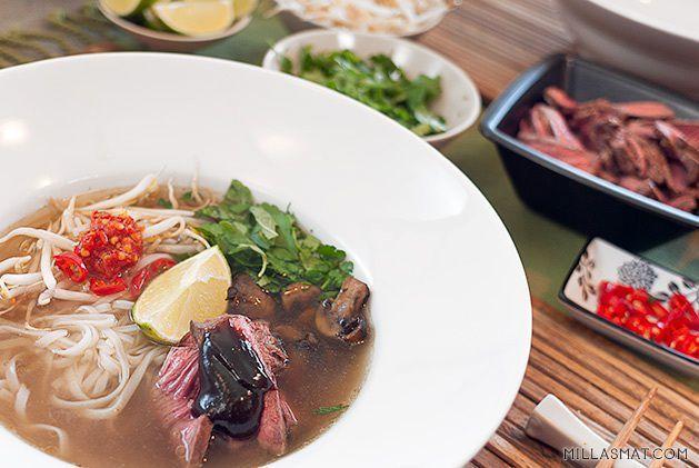 vietnamesisk-pho med kjøtt millasmat