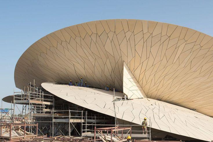 Chantier du national museum of qatar architecte jean for Nouvel architecte
