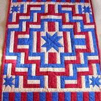 Five Stars Americana Quilt - via @Craftsy