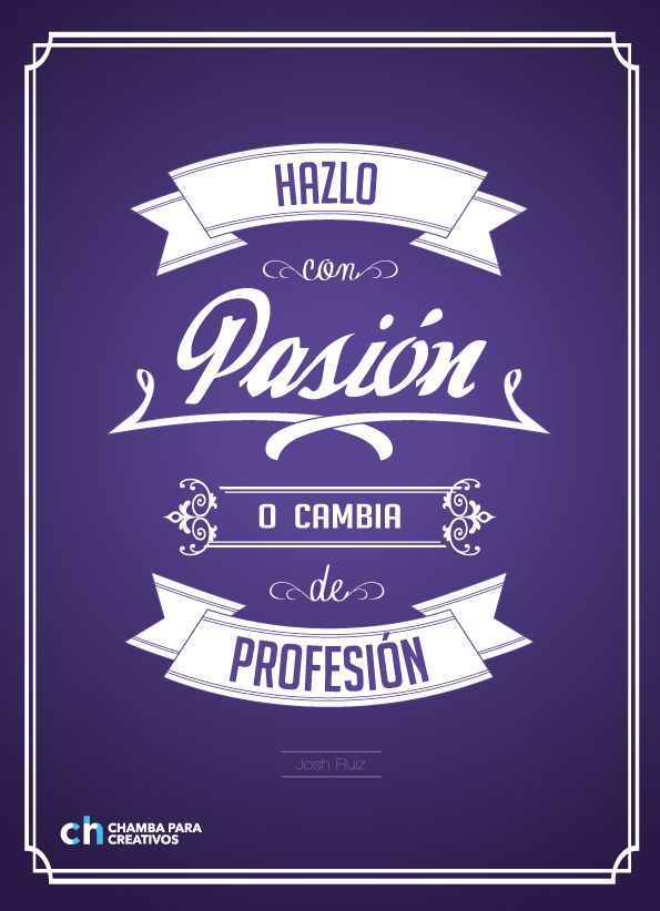 Type composition / Chamba para creativos by Josh Ruiz Cordova, via Behance