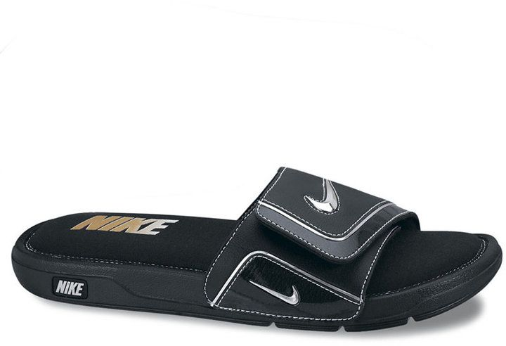 Smooth and stylish, these Nike slide men's sandals help you put a new bounce in your step all season long. Nike men's sandals Flex grooves for a more natural range of motion A premium, stylish and ultra-comfortable memory foam slide Men's athletic footwear from Finish Line Men's Shoes Leather upper