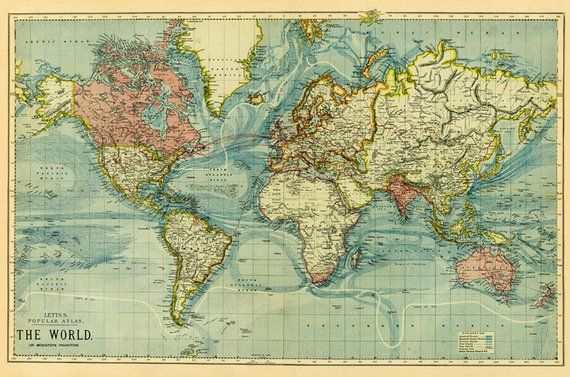 printable vintage maps vintage map