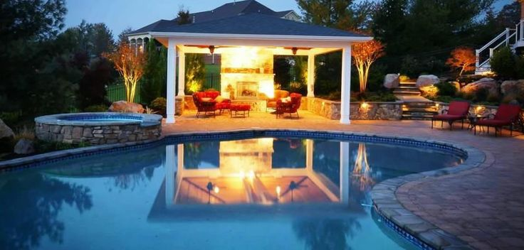 22 best outdoor living spaces images on pinterest for Pool design maryland