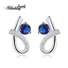 Wholesale New Beautiful Fashion Jewelry 925 Silver Earring With rhinestones 925 Sterling Silver Earrings E536(China (Mainland))