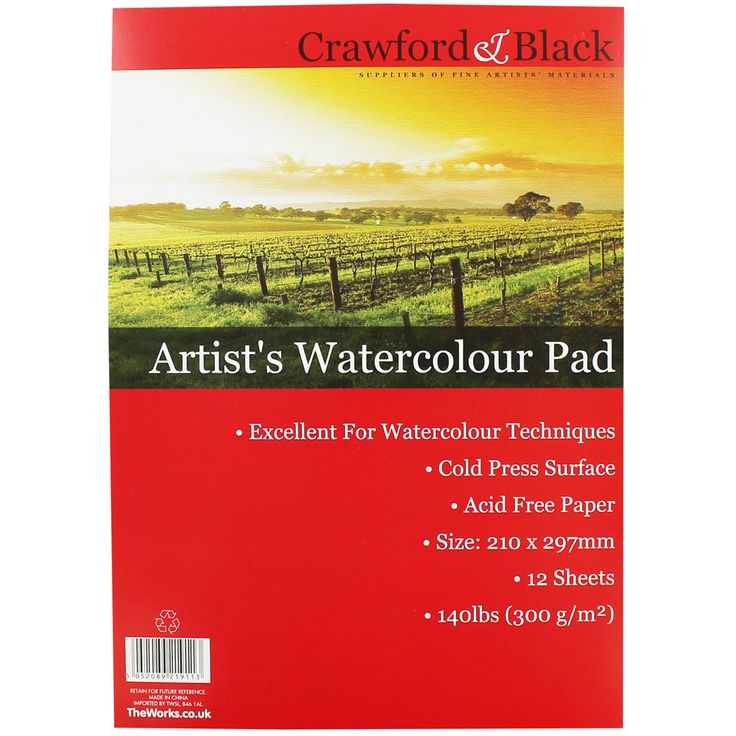 Buy Artist Watercolour Pad  online from The Works. Visit now to browse our huge range of products at great prices.