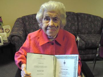Collingwood woman turns 106 - Gertrude Shell recently celebrated her 106th birthday.