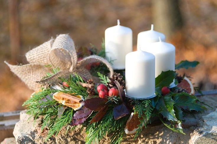 Přírodní Vánoce – adventní věnec - kurz Praha