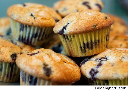 A breakfast treat - muffins made with fresh blueberries! This recipe is a healthier spin on a classic with ingredients like yogurt, honey and whole wheat flour.