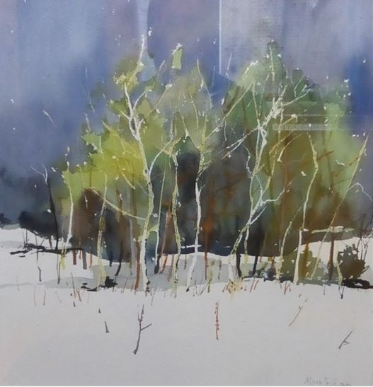 Woodland, watercolour, (45x35cm) by Mary Pelham. Pinner Sketch Club - runners-up in Art Club of the Year 2017