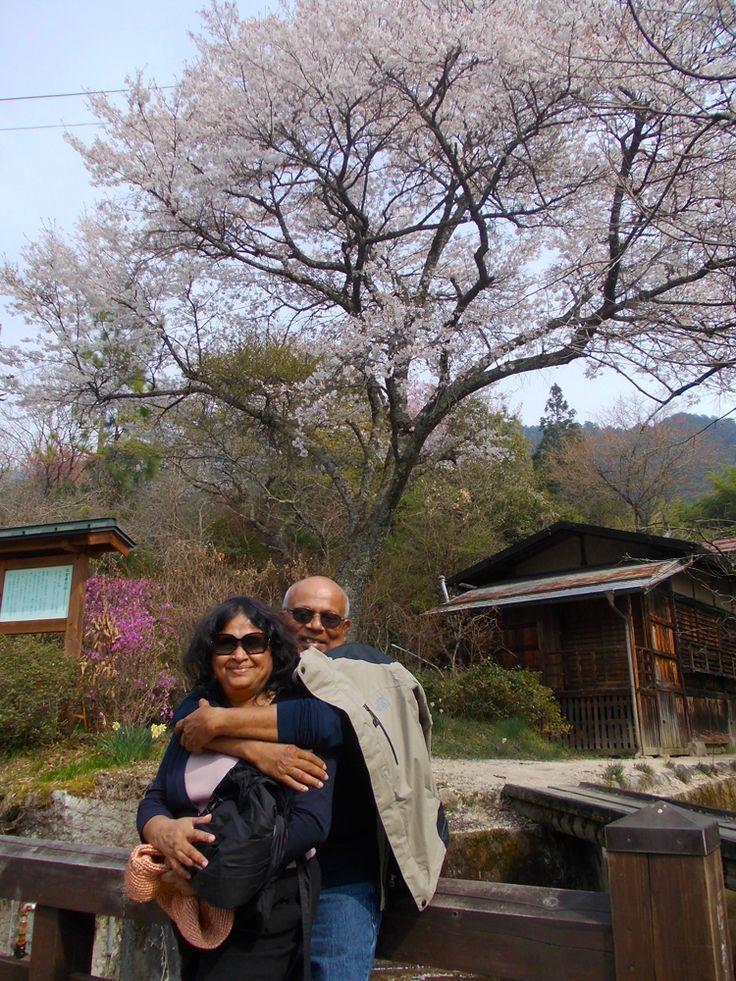 Sakura couple in Tsumago, April 2014