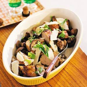 25 september - Varkenshaas in de bonus - Recept - Varkenshaas met paddenstoelen - Allerhande