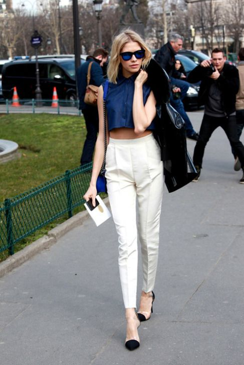 SS14 trend: Tailored coordinates - high waist slim fitting cigarette pants with structured crop...x