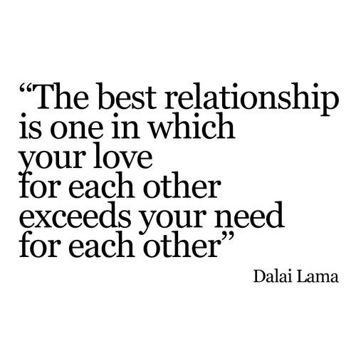 yatzer: ''The best relationship is one in which your love for... (via Bloglovin.com )