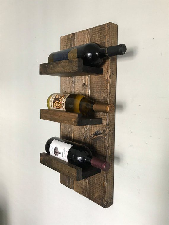 Rustic Wine Rack E Wall Mounted Bottle Holder Display Shelf Vertical Making Furniture Racks