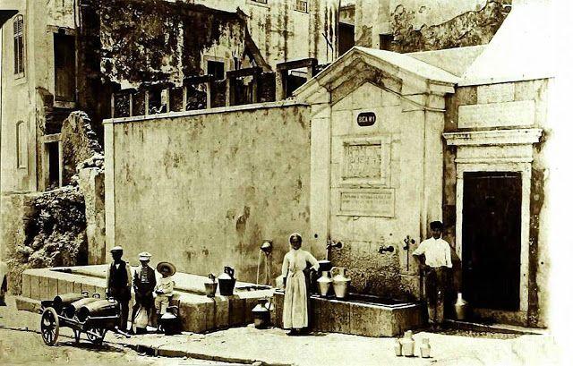 Bica ou Chafariz de Arroios (atual Rua Carlos José Barreiros), 1900