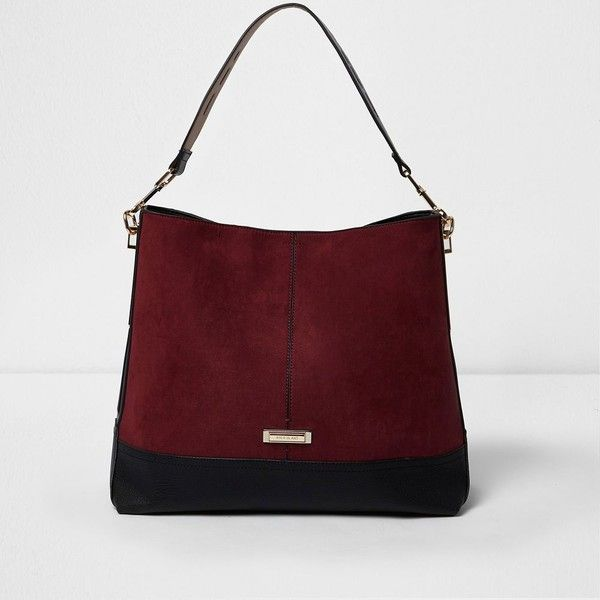 River Island Dark red underarm slouch bag ($68) ❤ liked on Polyvore featuring bags, handbags, shoulder bags, bags / purses, red, women, red handbags, shoulder handbags, shoulder hand bags and handbags shoulder bags