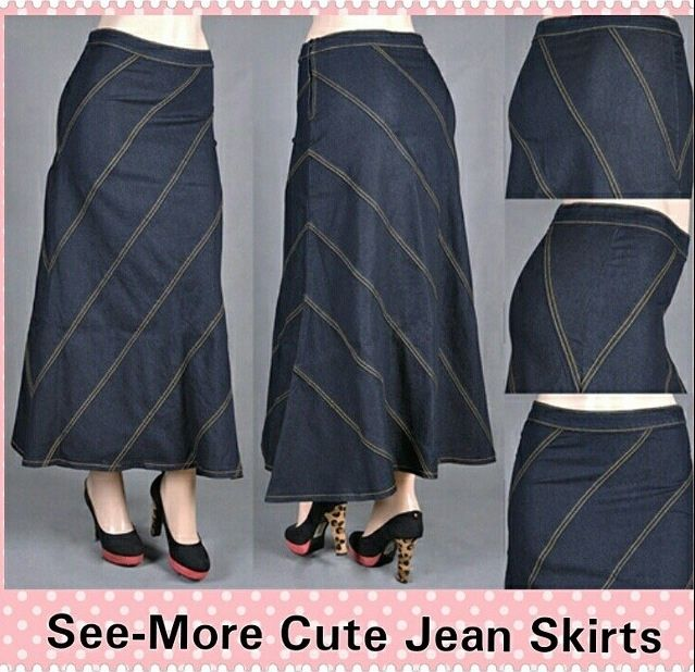Denim Skirts 12 To 34