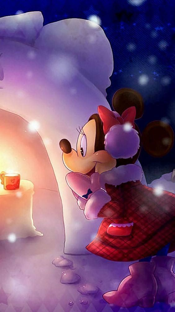 Minnie's in for a surprise of hot cocoa from somebody.