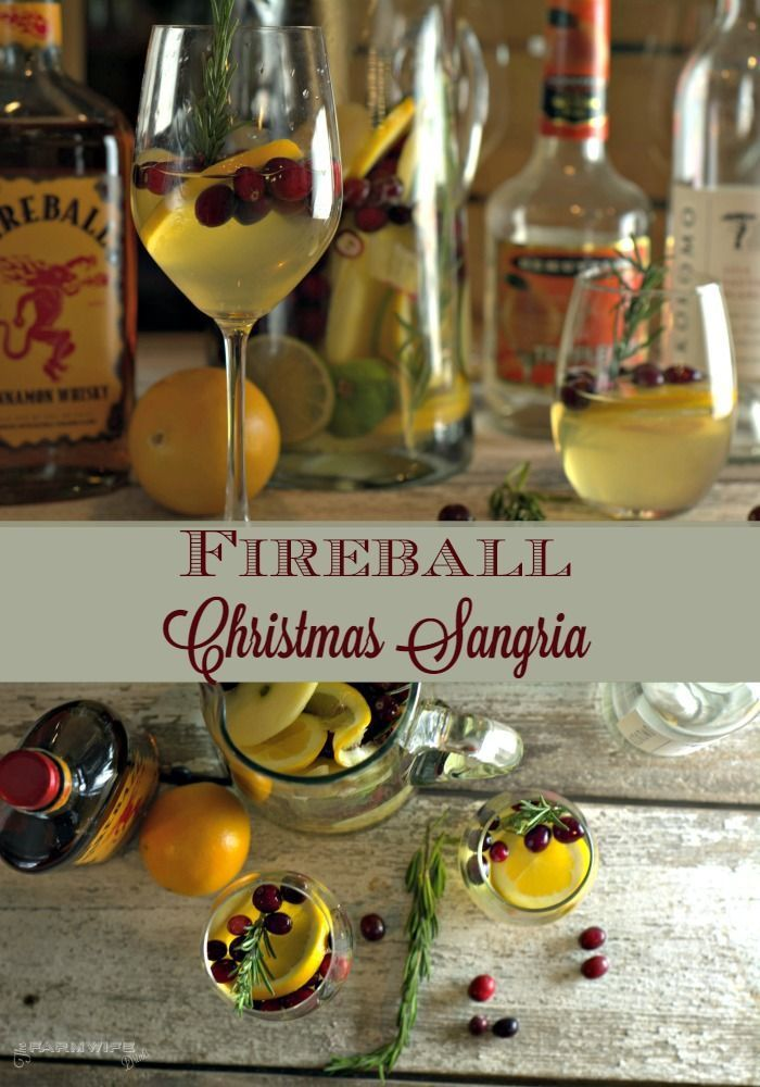 This Fireball Sangria recipe is a crisp white wine sangria with a strong cinnamon flavor. Subtle hits of orange, cranberry, and apple make this the perfect Christmas Sangria.