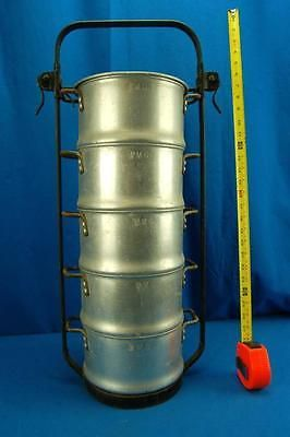 Vtg Stacking Cook Pots Saucepan Cookware Hot water Camping Crew Wear-Ever Industrial