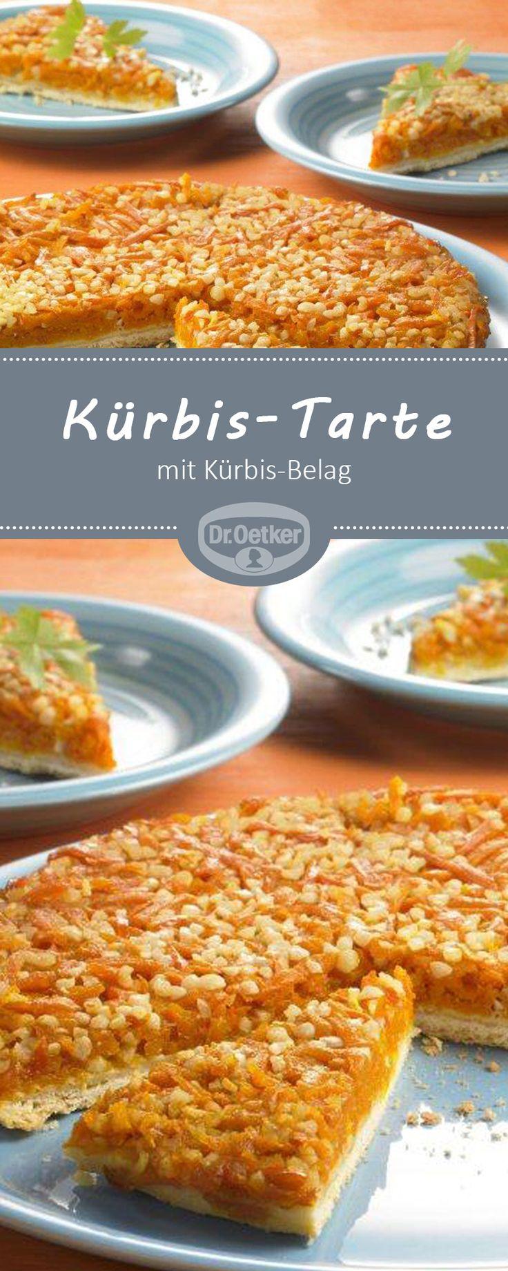 Kürbis-Tarte: Eine Tarte mit Kürbis-Belag für den Herbst