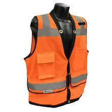 Radians Hi Viz Orange Heavy Duty Surveyor Vest Class 2 SV59-2ZOD   Hi Vis Safety Direct will beat any other price , we are #1 in Hi Visibility Items .