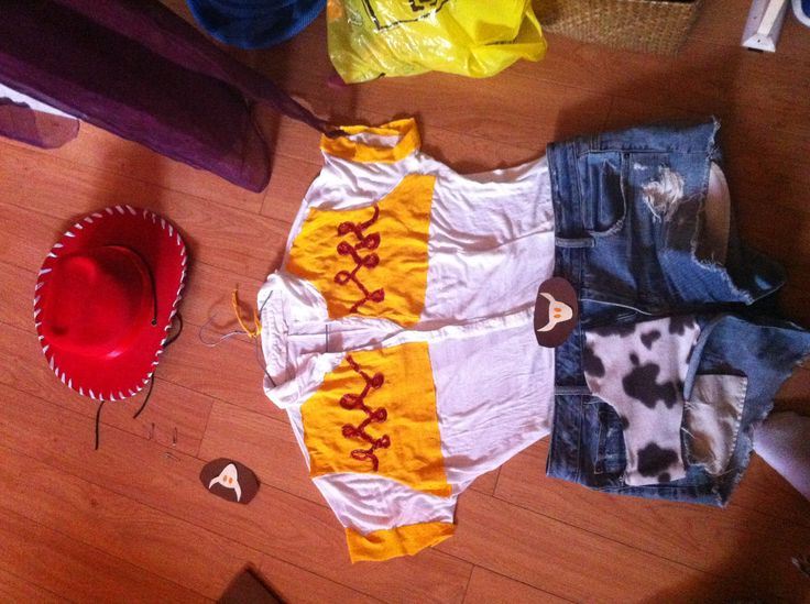 Diy Jessie costume. But with long pants of course!  Court will be buzz, Brooks will be woody and i'm thinking that Shane can be Andy lol