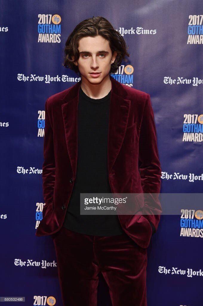 "chalametdaily:  """"Timothée Chalamet @ the 2017 Gotham Independent Film Awards "" """
