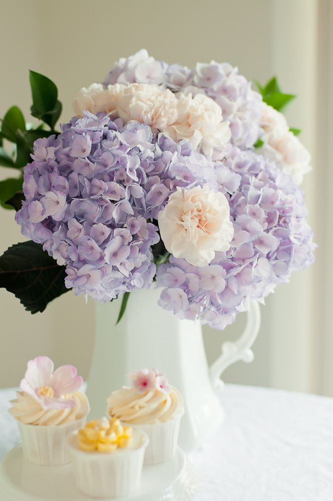 Gorgeous! This only with green hydrangeas and white carnations.