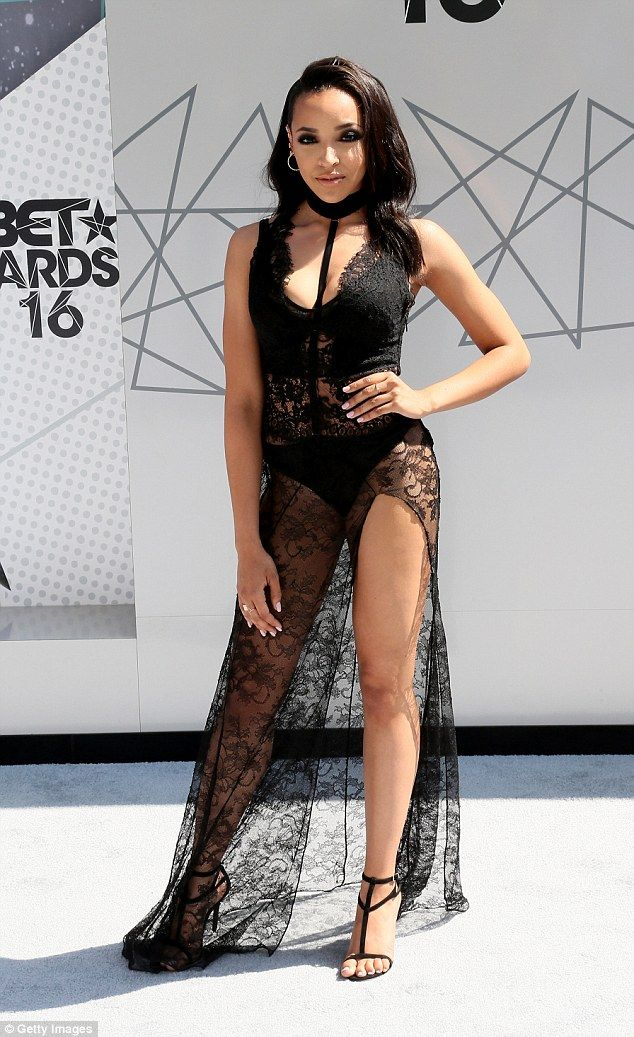Glamorous:: Tinashe stunned in a lace dress when she attended the 2016 BET Awards in June