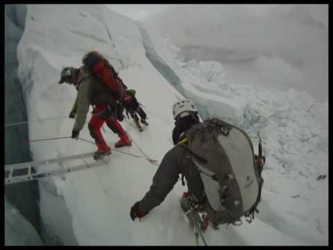 ▶ Mount Everest ICE FALL - The best Mount Everest Ice Fall video footage you will see. Shot by me - Theodore Fairhurst - with a helmet-mounted camera in the perpective of the climber. Powerful video images of the extraordinary Khumbu Glacier as it breaks up descending from the Western Cwm to Base camp. Voted top 10 at Killarney 2011 Adventure Film Festival.