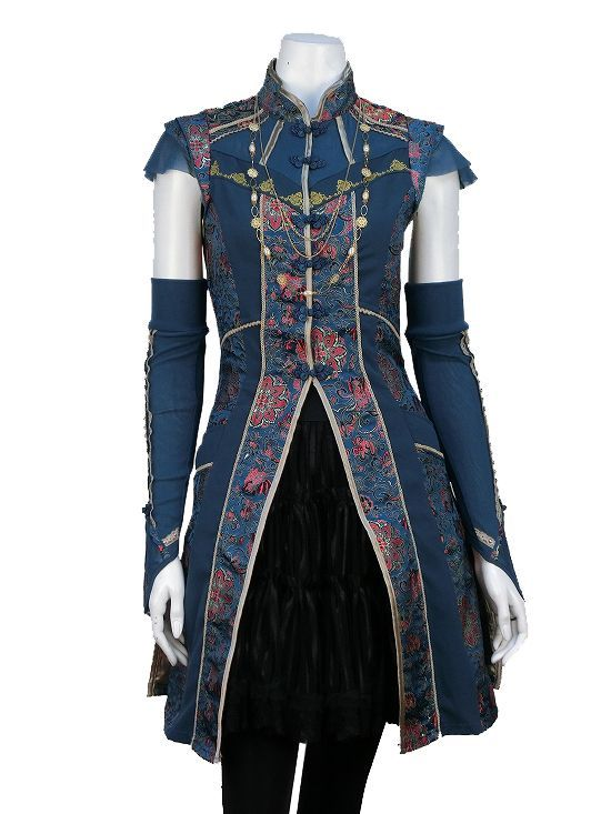 Love the masculine and sleek design of this coat, would look great on an elf character!