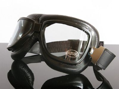 MOTORRADBRILLE/Goggles f.JET-Helm, schwarz (for open face helmets, black)-BR-SW
