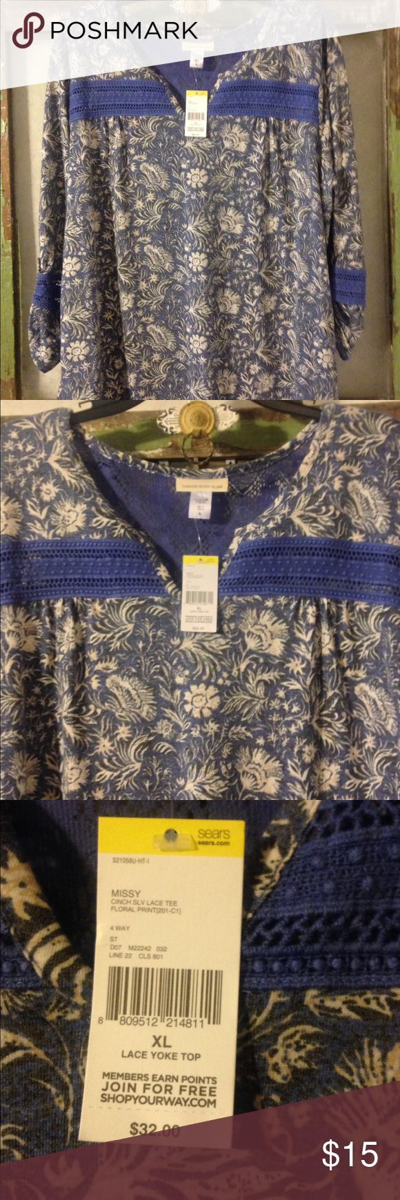 New, Canyon River Blues Shirt. Size XL New, Canyon River Blues Shirt. Size XL Canyon River Blues Tops