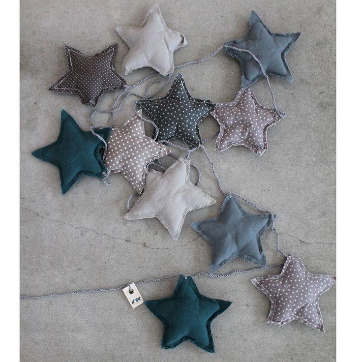 Numero 74- Mini star Garland Mix Blue